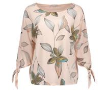Shirt mit floralem Print rosa