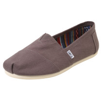 Canvas-Slipper 'alpargata' grau