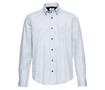 Hemd 'LS Textured Nep Shirt' weiß