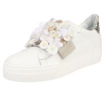 Sneaker 'flower' beige / weiß