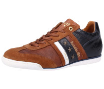 Sneaker navy / karamell / weiß