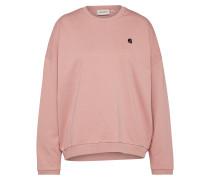 Sweatshirt altrosa / schwarz