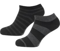 Socken 'Emil' graumeliert / schwarz