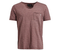Shirt 'tadg' braun / schwarz