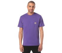 Pocket T-Shirt dunkellila