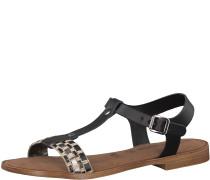 Sandale 'Lametta' schwarz