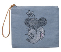 Denim-Clutch mit Disney-Motiv hellblau