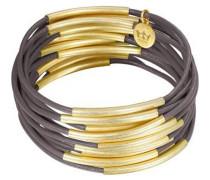 Armband dunkelbraun / gold