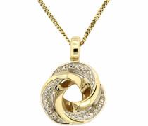 jewels Kettenanhänger 'Knoten' gold / weiß