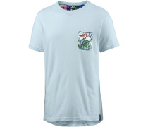 Printshirt hellblau