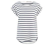 Shirt 'Bell' navy / weiß