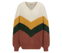 Pullover camel / braun / dunkelgelb / grün