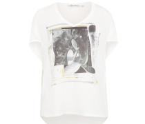 Shirt mit Print weiß
