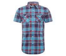 Hemd blau / rot