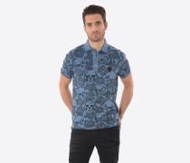 Poloshirt 'Loric Blueus' marine / schwarz