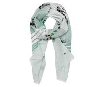 Schal grün / weiß