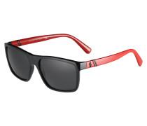 Sonnenbrille rot / schwarz