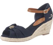 Sandaletten beige / navy / braun