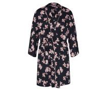 Kimono 'Woven Blossom' rosa / schwarz
