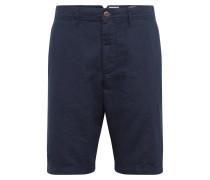 Hose '10 IN Solid Linen Short' navy