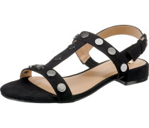 T-Steg-Sandalen schwarz