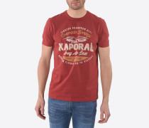 T-Shirt 'Datta Redchi' hellorange / rot