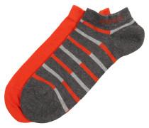 Socken im 2er-Pack grau / orangerot
