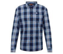 Hemd 'workwear' blau / weiß