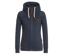 Sweatjacke 'Blonder Engel' indigo