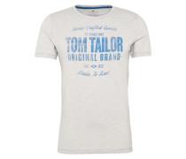 T-Shirt in Flammgarn-Optik weiß