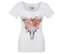 Shirt 'Mercy' mischfarben / weiß