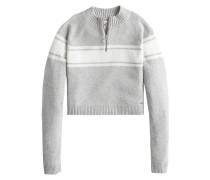 Sweatshirt 'mock Neck Sweater' grau