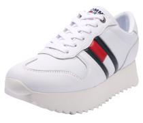 Sneaker mit Plateau navy / rot / weiß