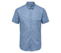 Kurzarmhemd blue denim