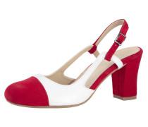 Slingpumps rot / weiß