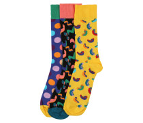 Socken 'Happy Birthday Gift Box' mischfarben