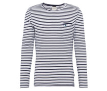 Langarmshirt 'bopping' navy / weiß