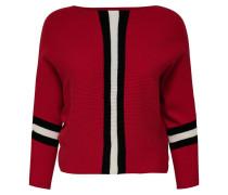 Pullover rot / schwarz / weiß