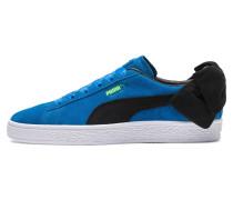 Sneaker 'Suede Bow Block' blau / schwarz