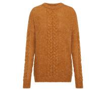 Oversize Pullover 'visaga Knit' senf