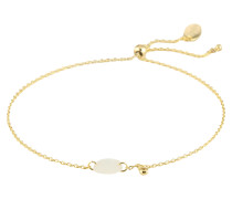 Armband 'Faceted Stone Adjustable' gold