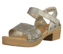 Sandalen braunmeliert / silber