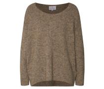 Oversized Pullover 'Mille' hellbraun