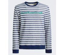 Sweatshirt navy / jade / weiß