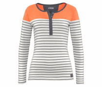 Ringelshirt grau / orange / weiß