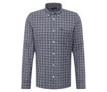 Hemd 'refined Button Down' dunkelblau / weiß