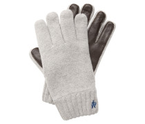 Handschuhe blau / braun / wollweiß