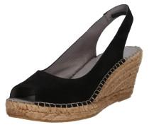 Sandale 'Dot' beige / schwarz