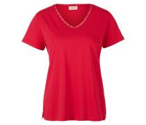Modal-Shirt mit V-Ausschnitt rot