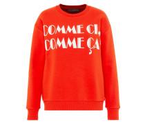 Statement-Sweatshirt orangerot